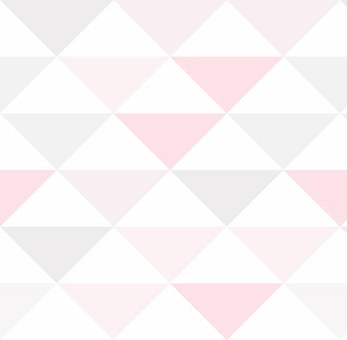 papel de parede infantil triangulo geométrico rosa 3 metros