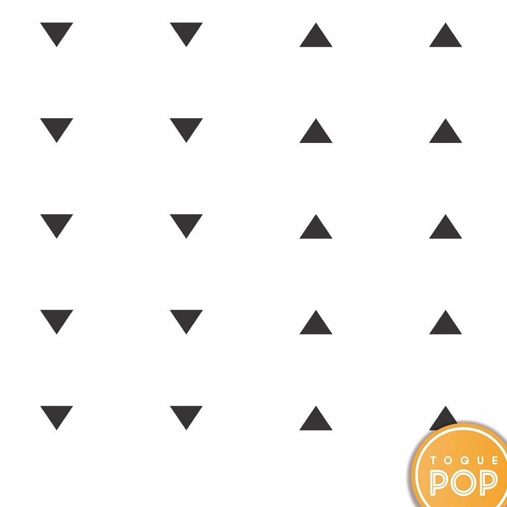 Papel de parede infantil triangulo preto adesivo lav vel for Papel de pared negro
