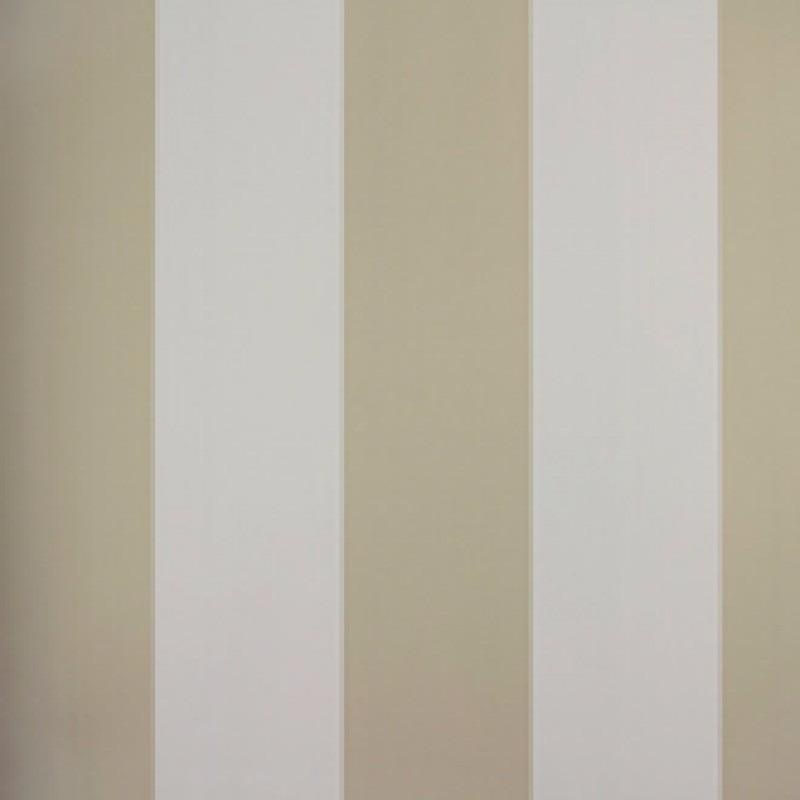 Papel de parede listrado bege e branco vinilico r - Papel vinilico para paredes ...