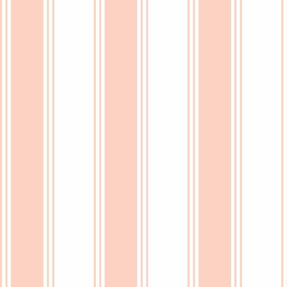 8767ccb98 Papel De Parede Listrado Rosa Bebe Branco Kit 5 Rolos 2