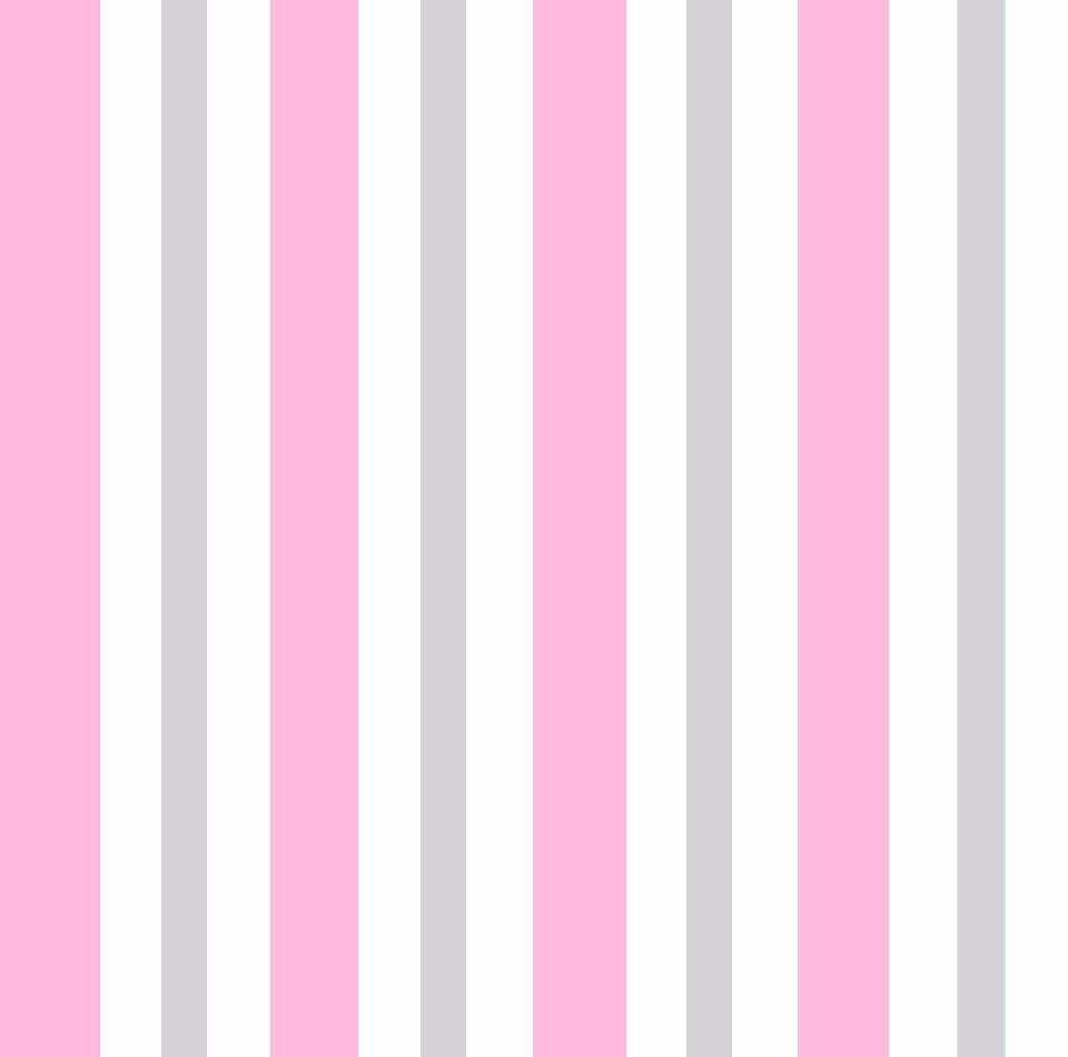 Papel de parede listrado rosa branco cinza adesivo - Papel vinilico para paredes ...