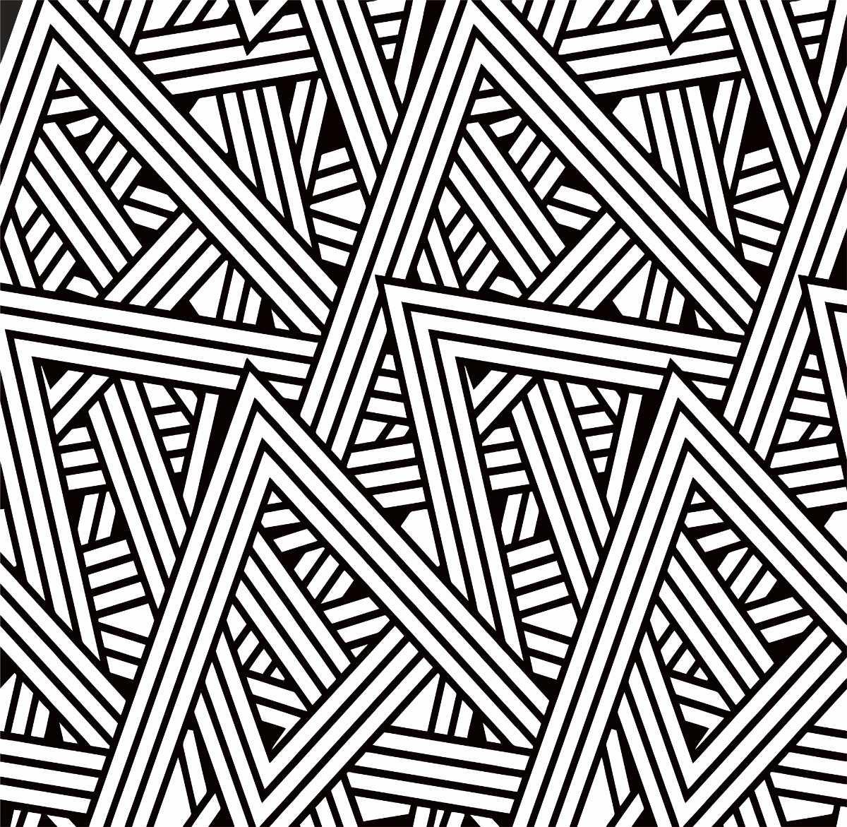 Papel De Parede Listras Abstrato Preto E Branco R 58 99 Em