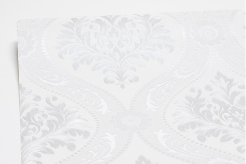 papel de parede luxo vinílico importado arabescos lavável