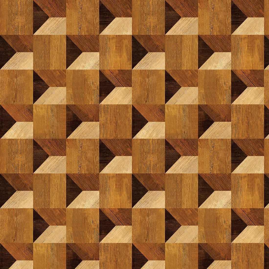 Papel de parede madeira 3d mosaico r 49 90 em mercado livre for Mosaico adesivo 3d