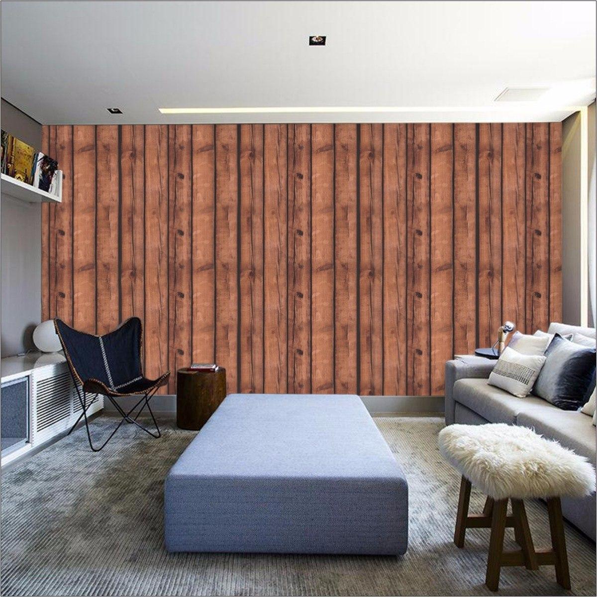 1d61945f6 papel de parede madeira 3d rústica autoadesivo lavável 3m. Carregando zoom.