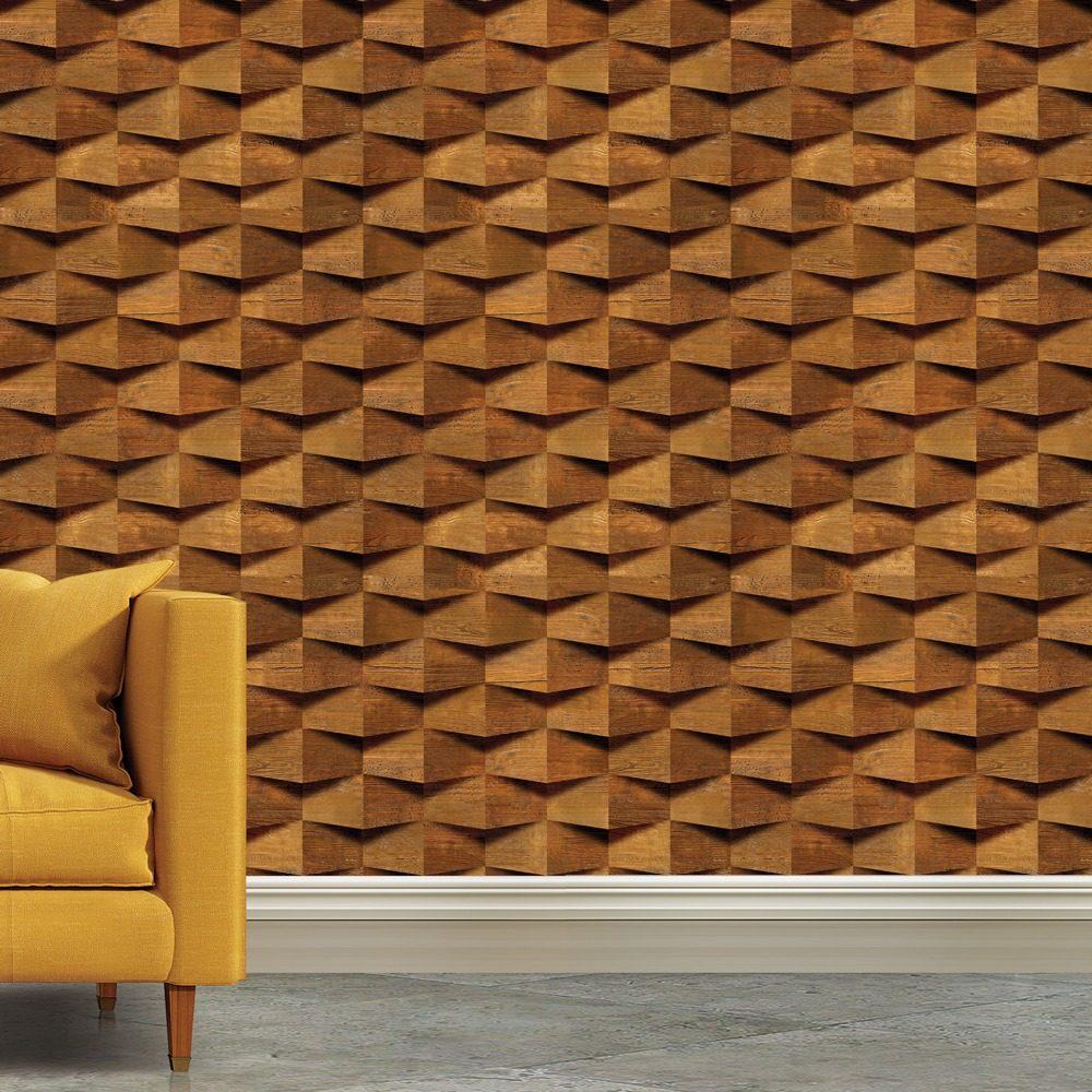 be7fcea6a papel de parede madeira efeito 3d blocos rustico 3mts. Carregando zoom.
