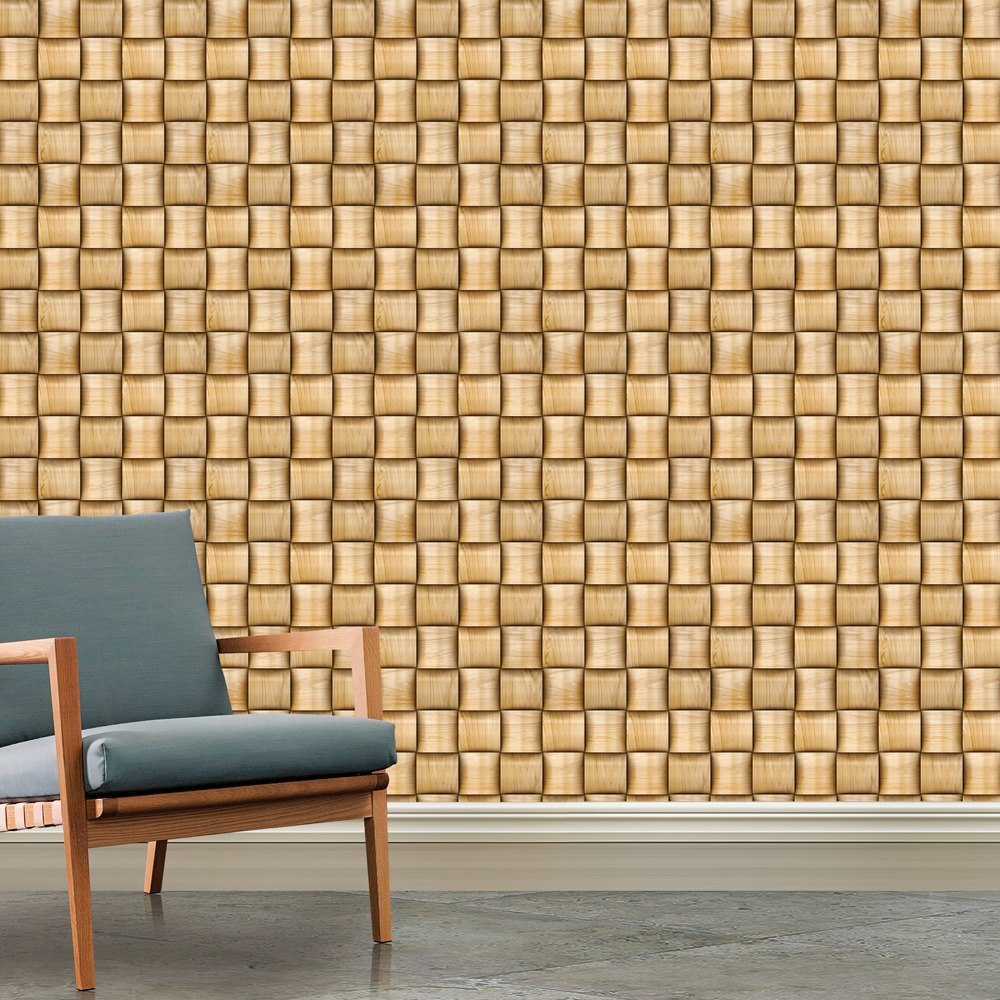 b9a172139 papel de parede madeira efeito 3d rústico cubos 3mts. Carregando zoom.