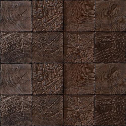 papel de parede madeira rustica natural mosaico 3d vinilico