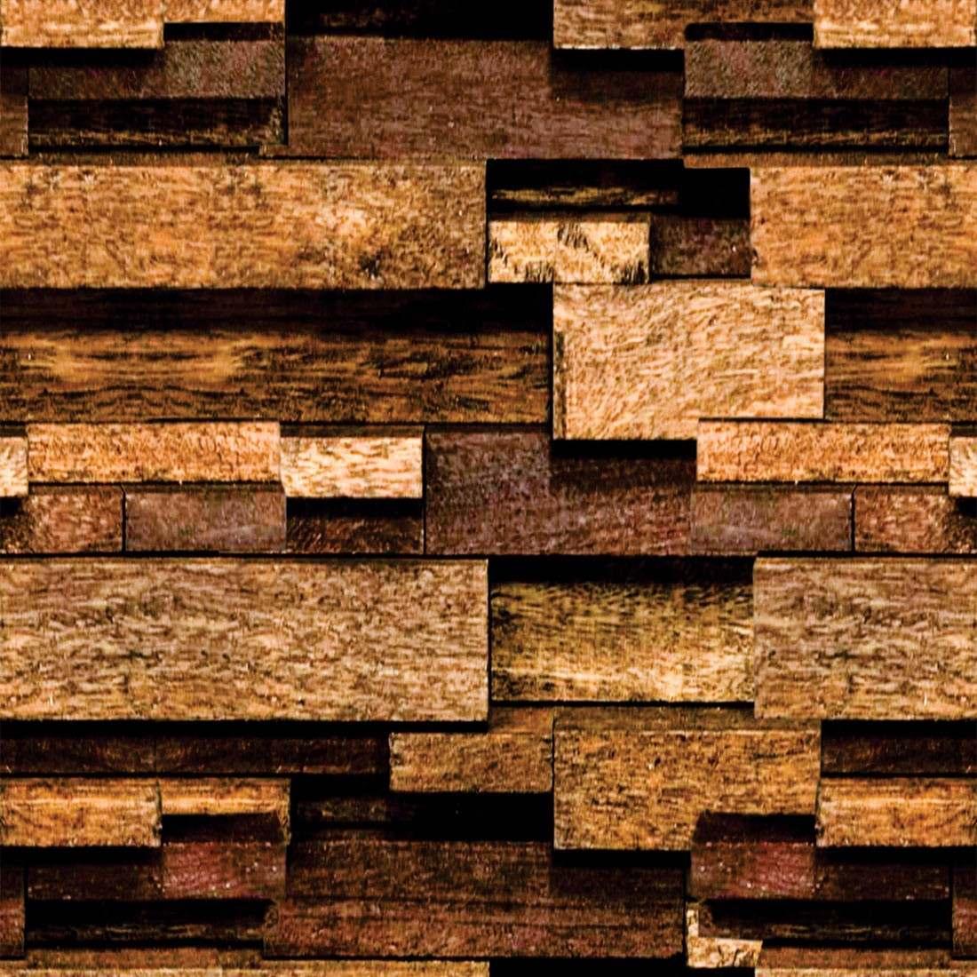 Papel de parede madeira t buas 3d adesivo fosco r 59 94 for Papel de pared rustico