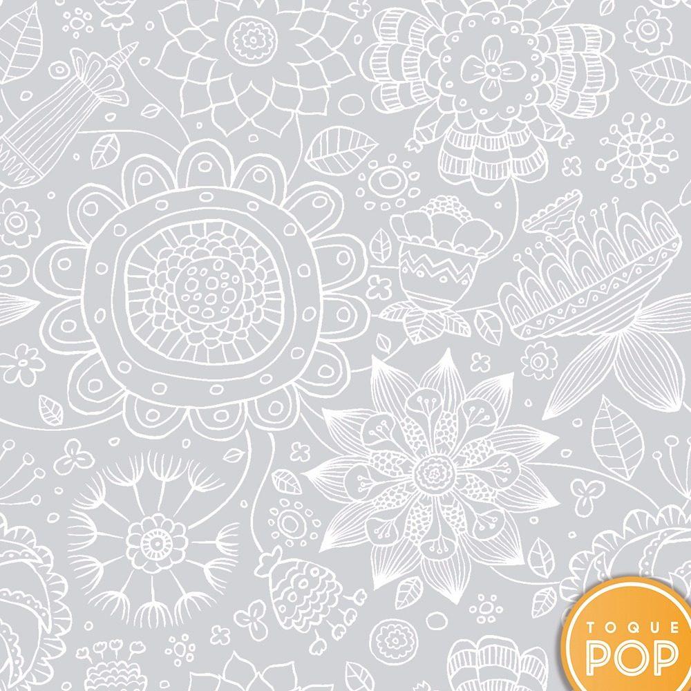 Aparador Canadá Com Tampo De Vidro ~ Papel De Parede Mandala Cinza Claro Adesivo Contact Rolo 10m R$ 119,00 em Mercado Livre