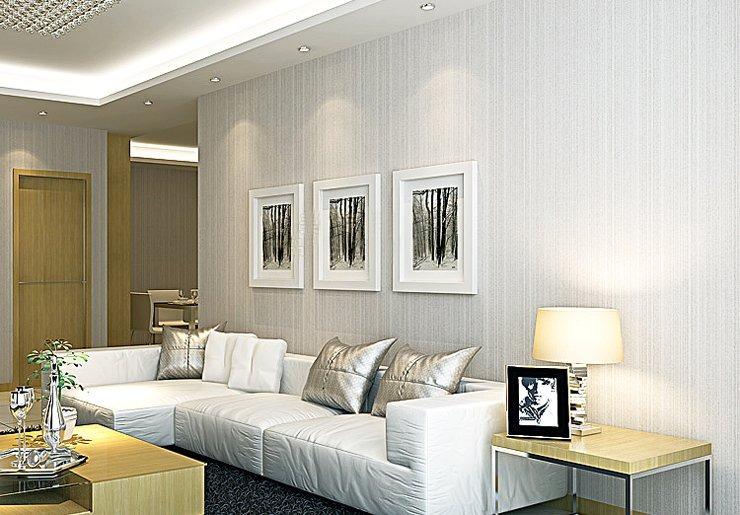 Papel de parede moderno listrado discreto frete gr tis - Papel de pared moderno ...