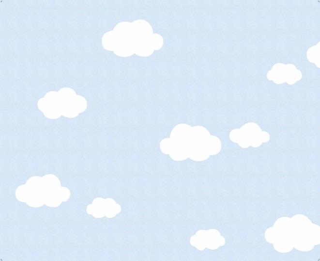 Artesanato Mineiro Em Madeira ~ Papel De Parede Nuvens Azul R$ 250,00 em Mercado Livre