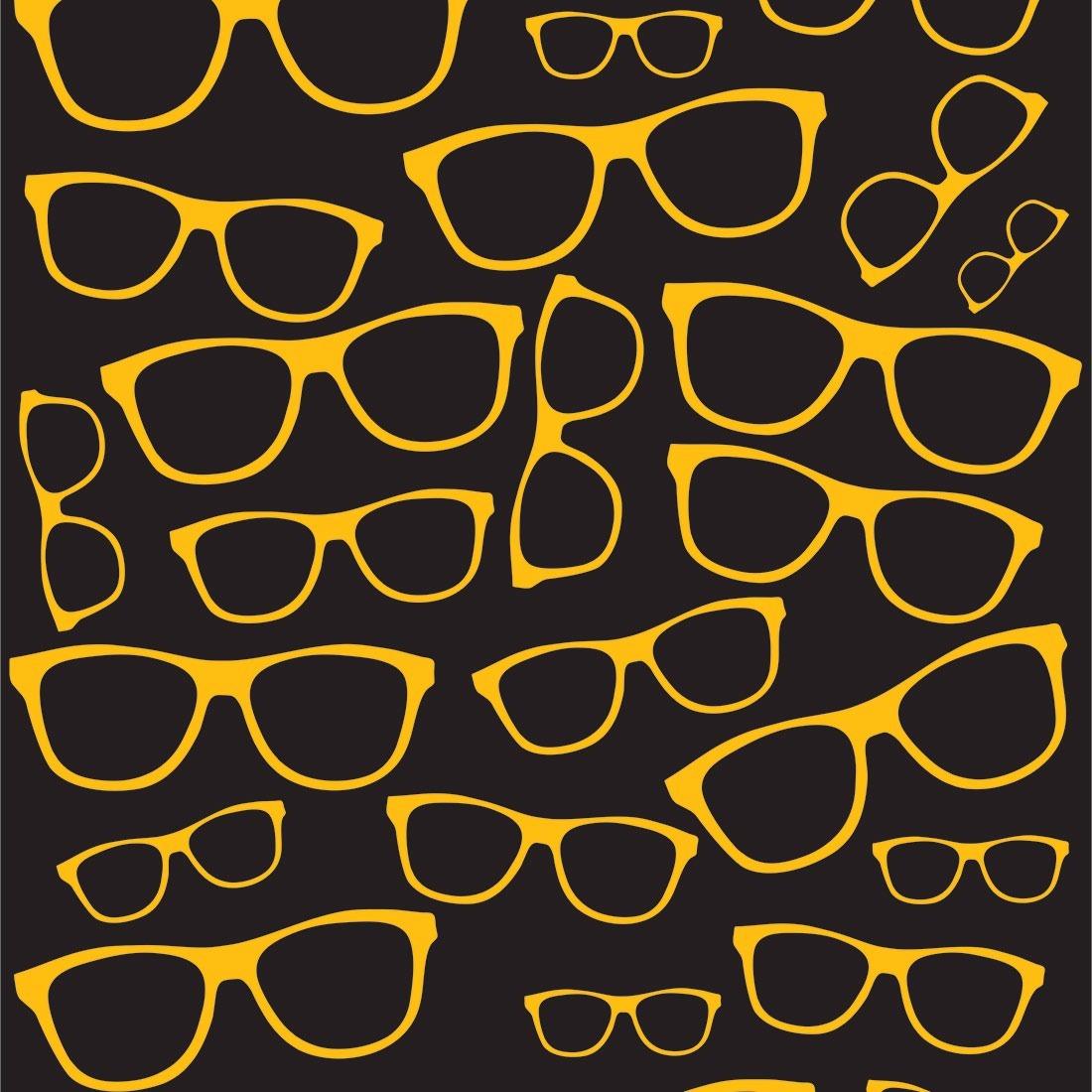 Papel De Parede Óculos Amarelo Fundo Preto Lavável 310x58cm - R  49,90 em  Mercado Livre a03ddf5215