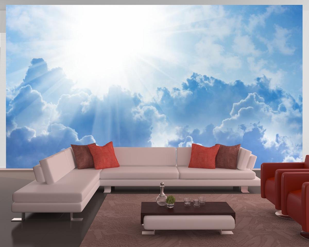 Papel De Parede Paisagens Ceu Nuvens Sol M R 45 00 Em
