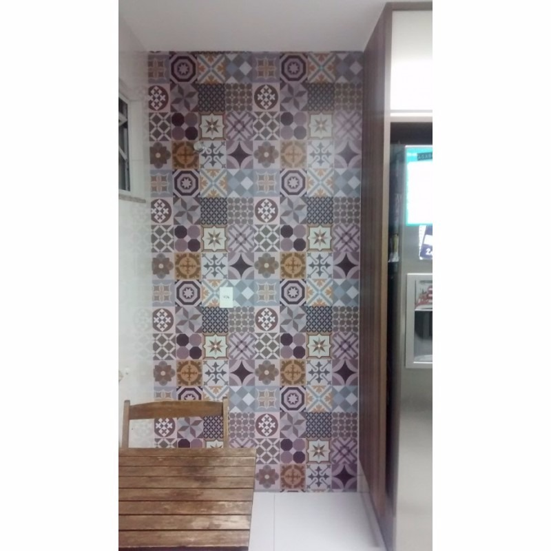 Papel de parede para cozinha azulejo portugu s rolo 5 for Papel adhesivo para azulejos