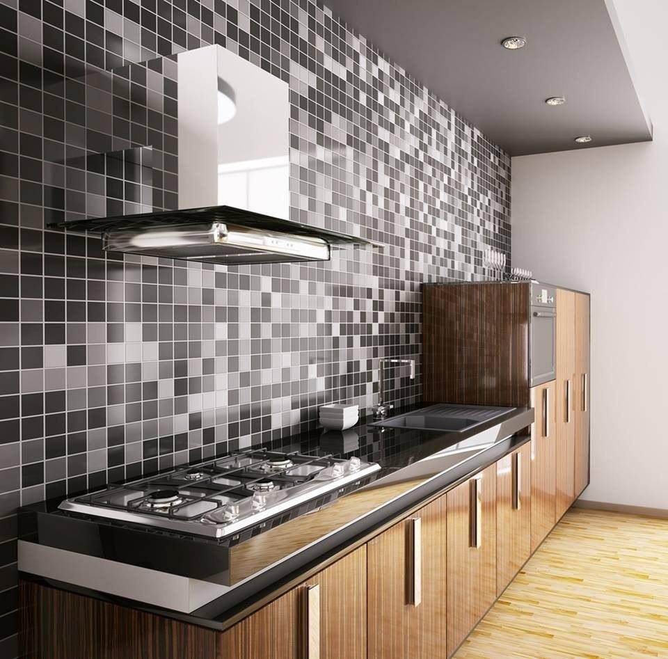 Papel De Parede Para Cozinha Banheiro Pastilhas Adesivo 10mt  R$ 149,98 em M # Adesivo Para Azulejo De Cozinha Pode Molhar