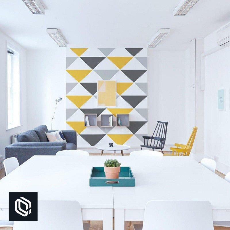 dee8dee51f Papel De Parede Para Cozinha Triângulos Grandes Coloridos - R  98