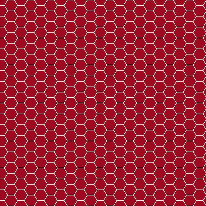 Papel De Parede Pastilha Colmeia Vermelho 0 6f724a0b33c6e