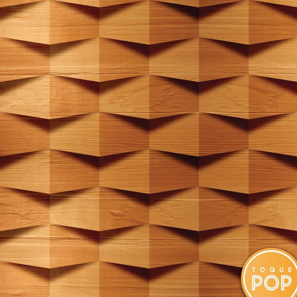 Papel De Parede Pedra 3d Madeira Kit 8rolo 2 5m R 239 00 Em  -> Imagem Parede De Madeira