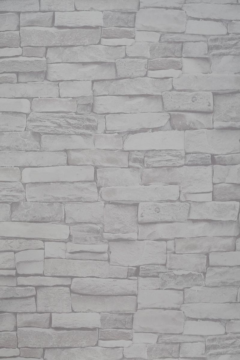 83646f3b1 papel de parede pedra rústica clara 3d vinílico lavável. Carregando zoom.