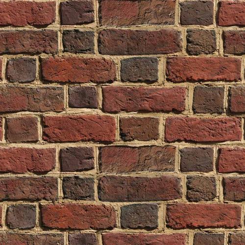 papel de parede pedra tijolinhos escuros lavável vinil 3m