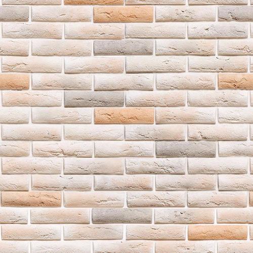 papel de parede pedra tijolinhos rosados lavável vinil 3mt