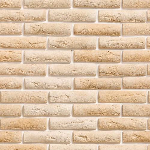 papel de parede pedra tijolinhos tons bege  lavável vinil 3m