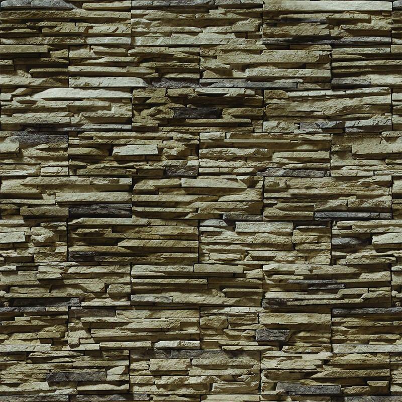 1883e7c16 papel de parede pedras 3d rústica em filetes marrom 78. Carregando zoom.