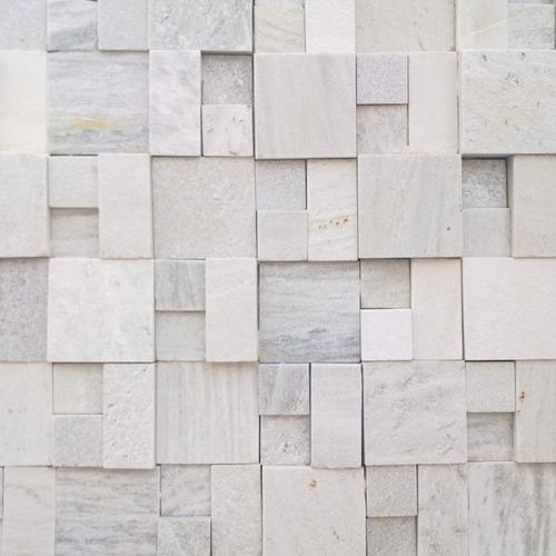 papel de parede pedras canjiquinha quadrada 3d vinílico