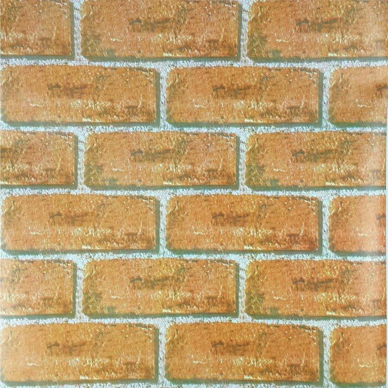 f7be0674d papel de parede pvc decoração de ambiente tijolo laranja. Carregando zoom.