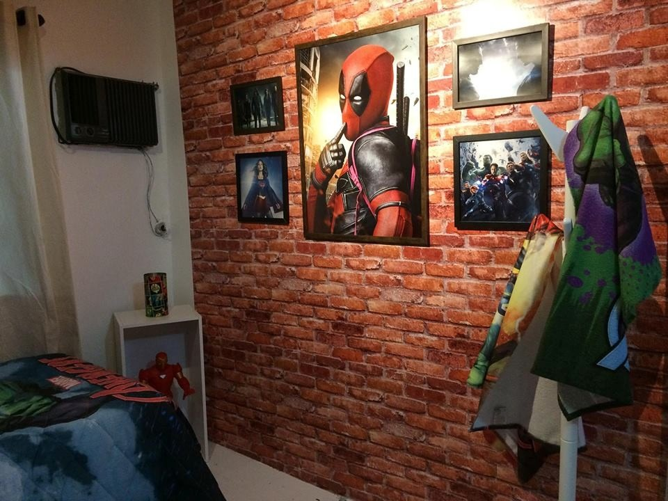 Papel de parede quarto 3d tijolo rustico marrom oferta for Papel de pared rustico