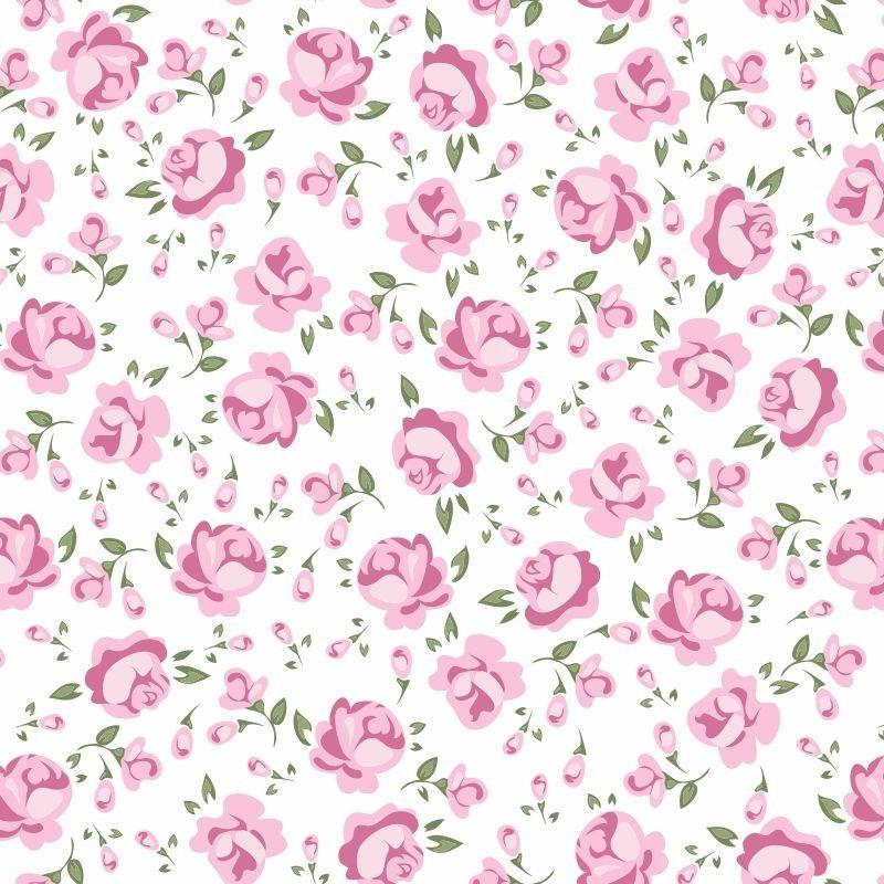 Papel De Parede Quarto Bebê Menina Rosas Adesivo R 5849 Em