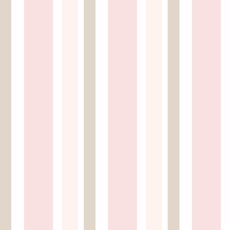 Papel de parede quarto bebe menina listra rosa marrom bege r 54 90 em mercado livre - Papel de pared bebe ...