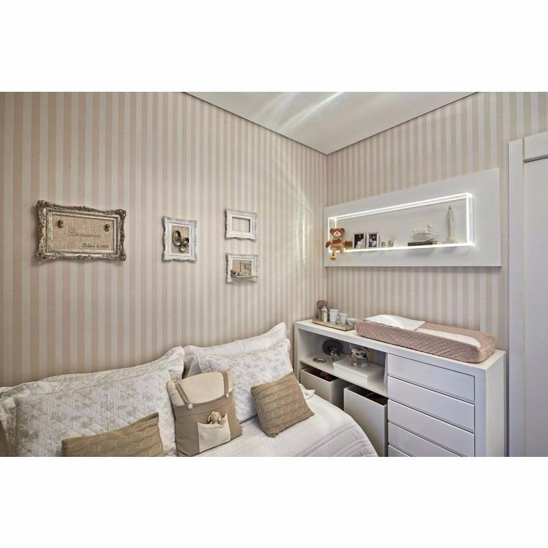 Papel de parede quarto bebe menino a listras bege e branco r 59 49 em mercado livre - Papel de pared bebe ...