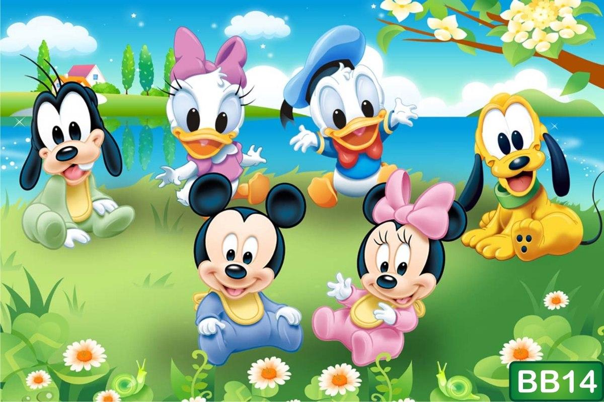 Papel De Parede Quarto De Beb Baby Disney Pooh Looney M R  ~ Papel De Parede Para Quarto Infantil Personagens