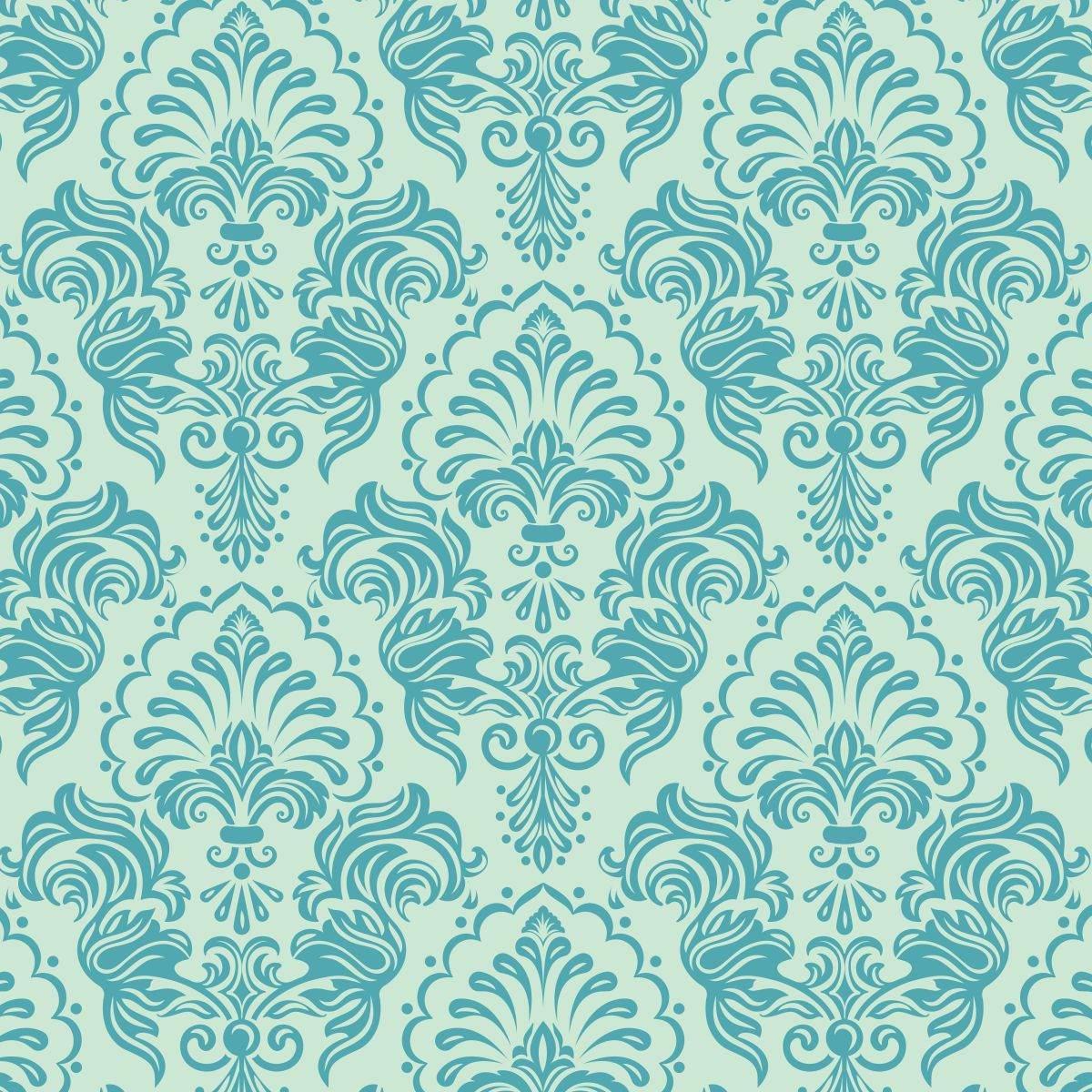 Papel De Parede Quarto E Sala Arabesco 7 Tiffany E Azul Ades R  ~ Papel De Parede Azul Tiffany Quarto