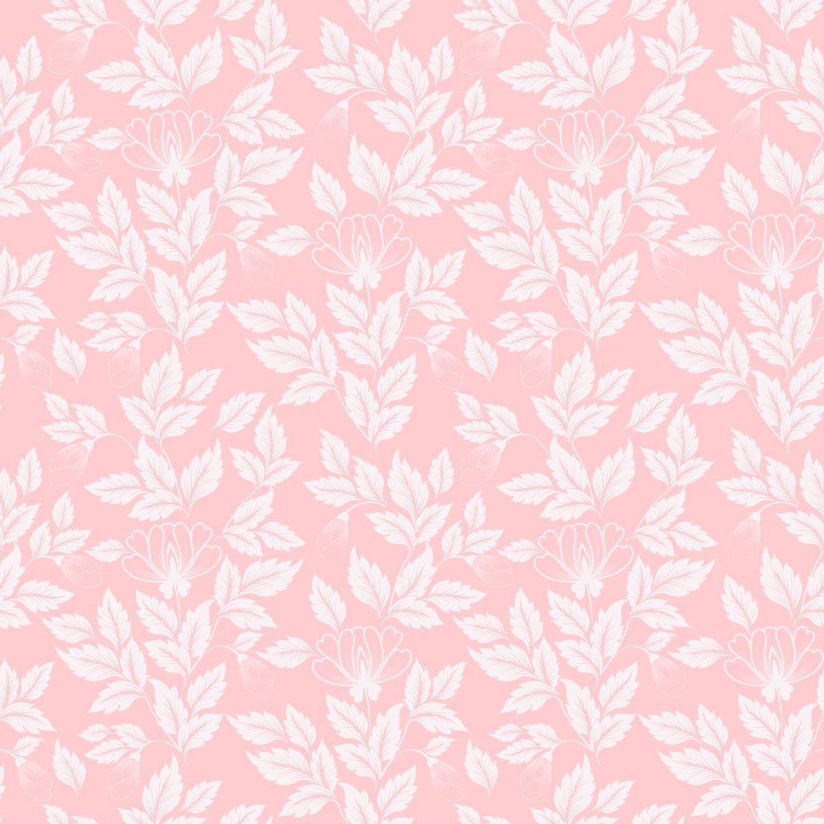Papel De Parede Quarto E Sala Folhas Tom De Rosa Adesivo R 69 00  -> Papel De Parede Para Sala Folhas