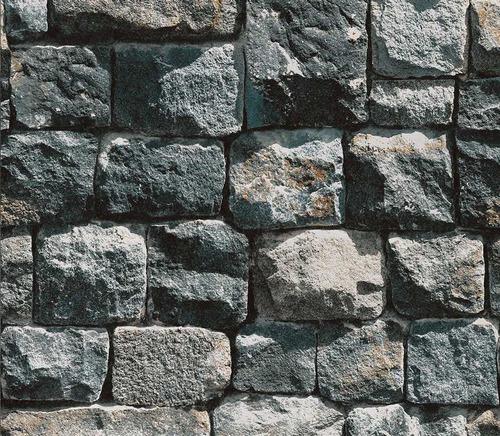 papel de parede relevo 3d imita muro de pedra neonature