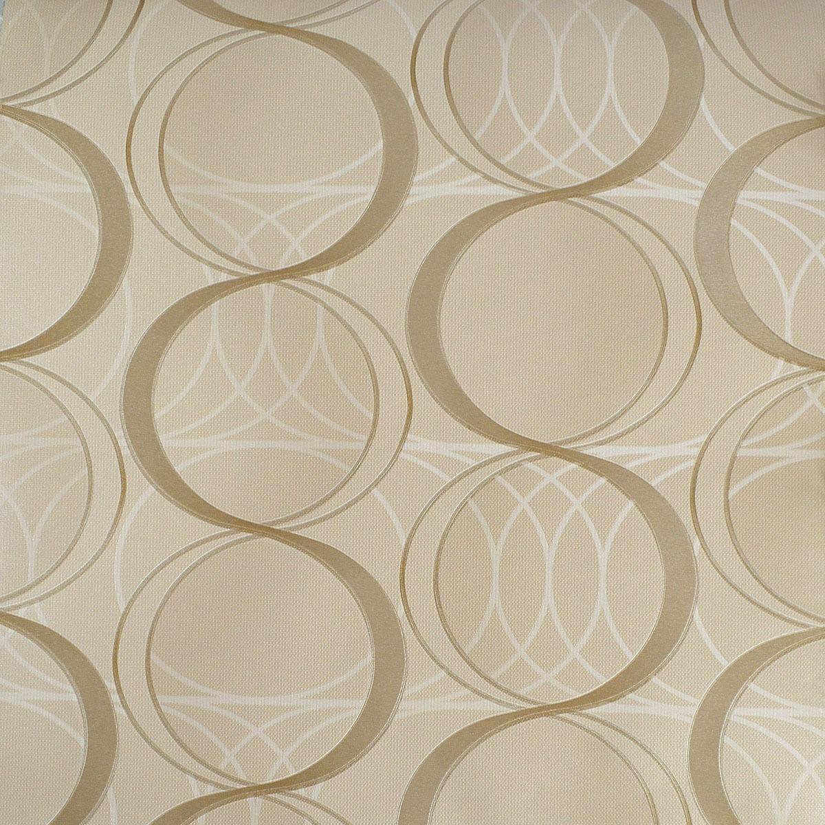Papel de parede rolo alto padr o bege dourado alto relevo for Papel de pared rustico