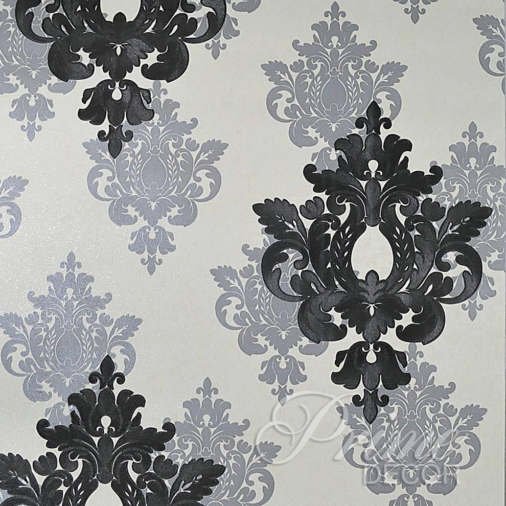 Papel De Parede Rolo Importado Cinza Textura Arabescos Preto R  ~ Papel De Parede Para Quarto Textura