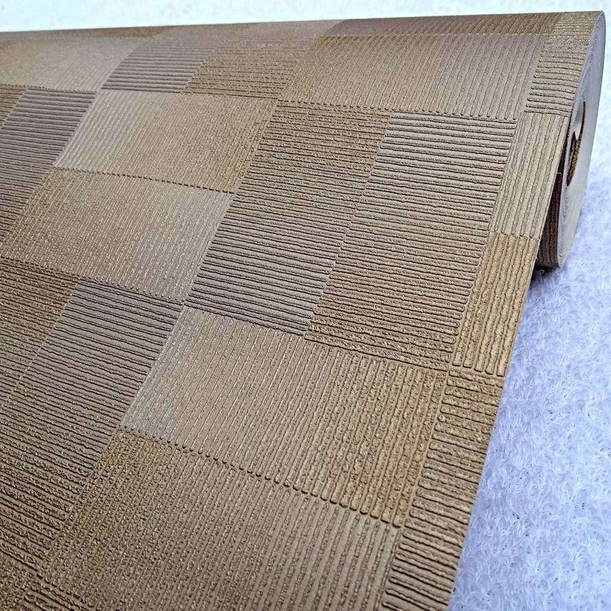 papel de parede rolo importado textura quadrados 3d 80807 r 109 90 em mercado livre. Black Bedroom Furniture Sets. Home Design Ideas
