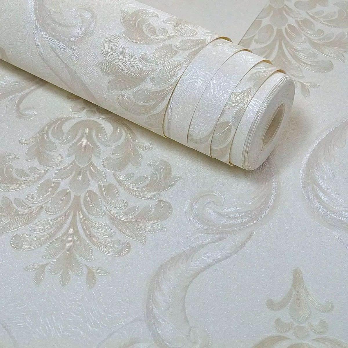 Papel de parede rolo vinilico importado arabescos 10m cola r 94 90 em mercado livre - Vinilico para paredes ...