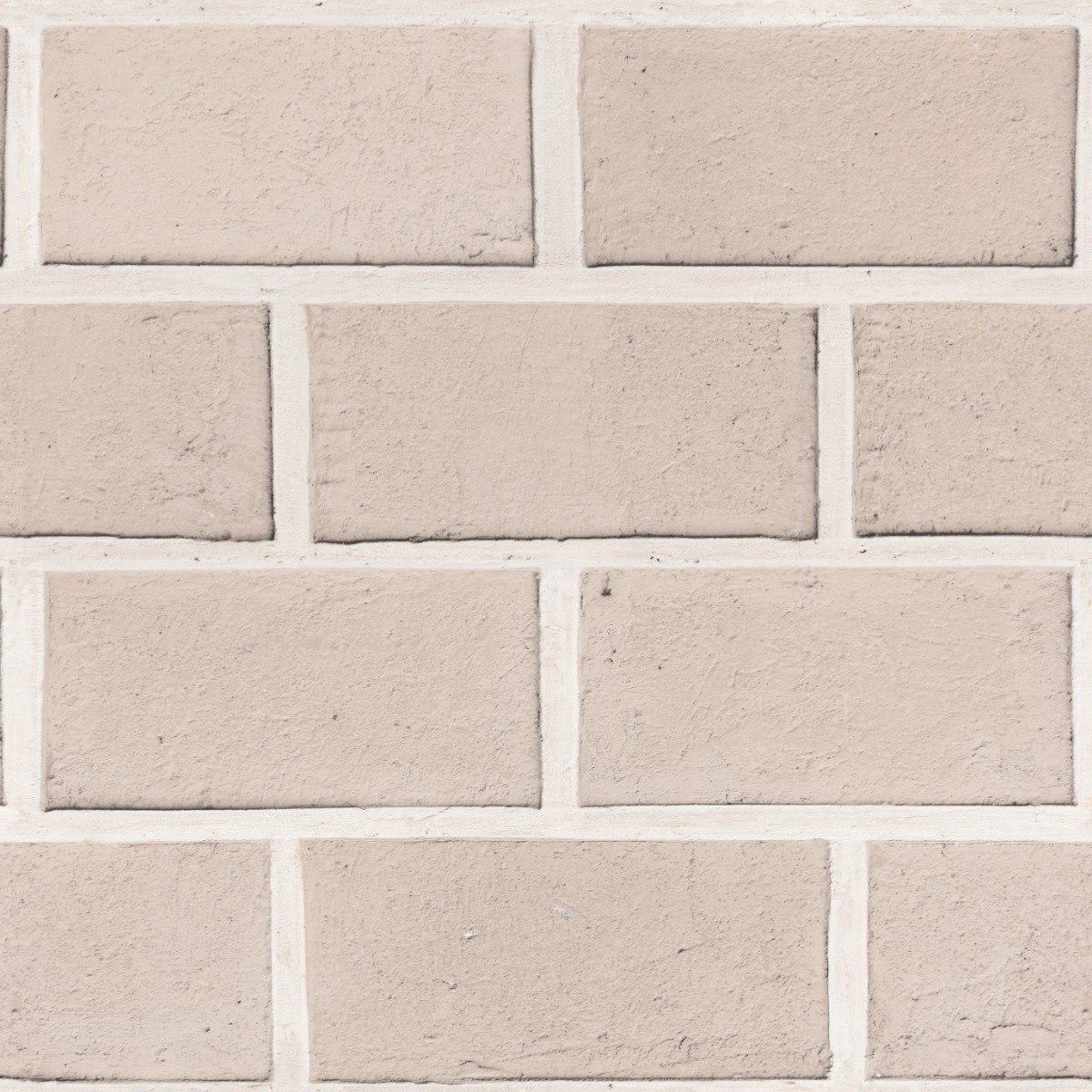 32dd837b8 papel de parede sala bloco tijolinho a vista bege 7rolos 3mt. Carregando  zoom.