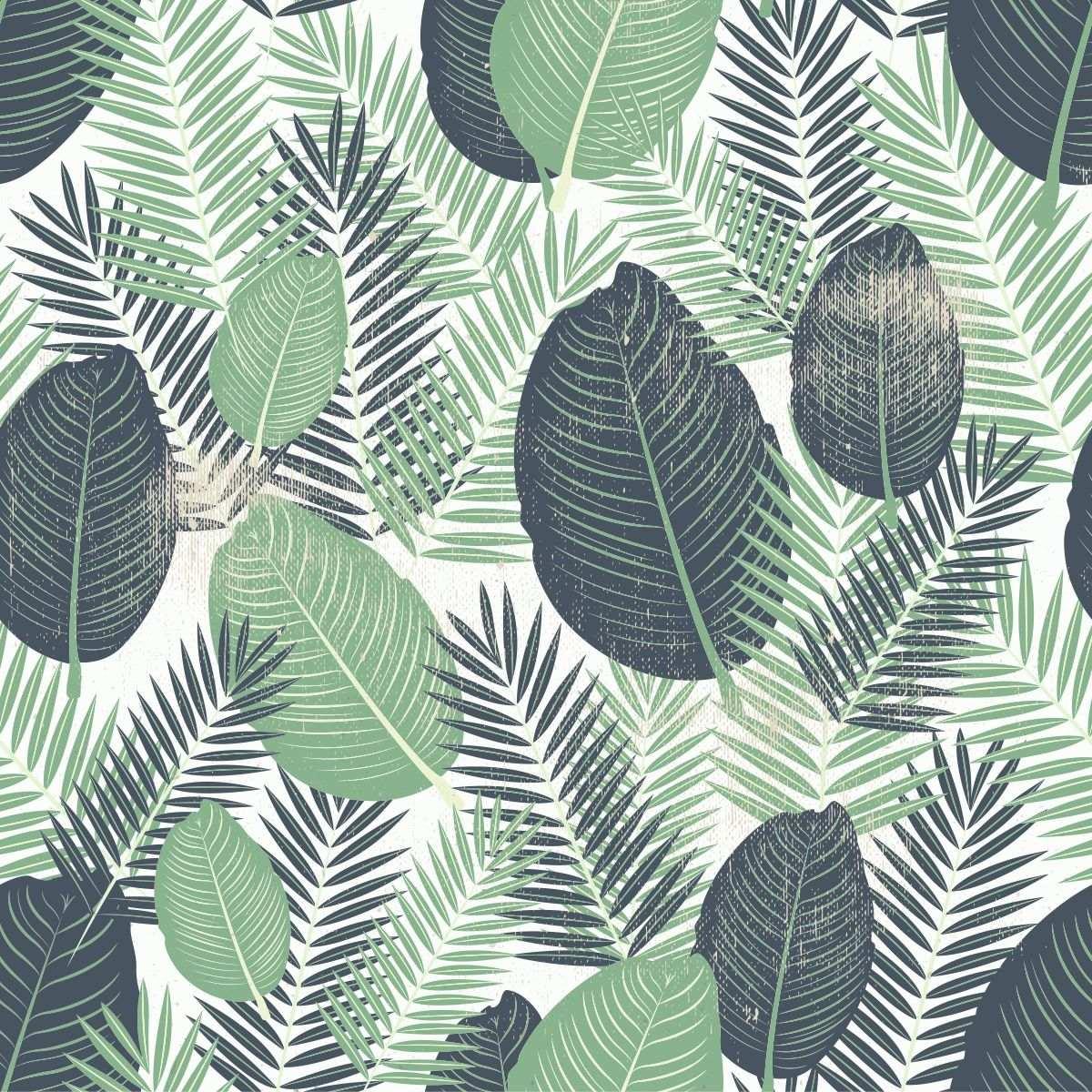 Papel De Parede Sala E Quarto Folhas Verdes Coloridas Adesiv R 69  -> Papel De Parede Para Sala Folhas