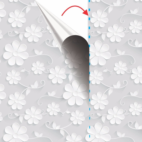 papel de parede sala floral