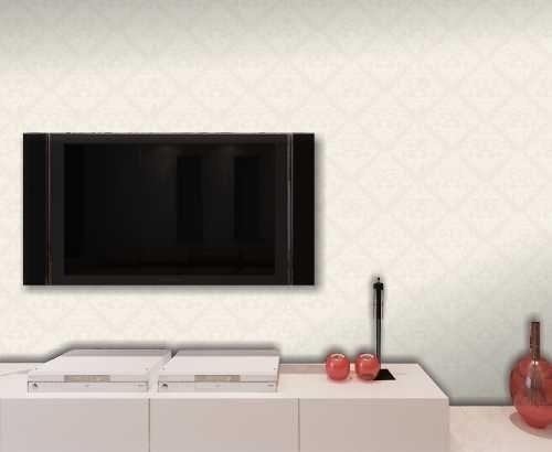 papel de parede texturizado arabescos - natural - 1,04 x 6m