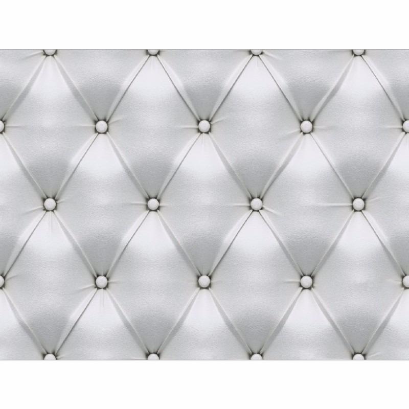 Adesivo De Parede Para Banheiro Lavavel ~ Papel De Parede Tipo Couro Capitone Branco Adesivo