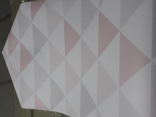 papel de parede triangulo geométrico rosa cinza adesivo 10m