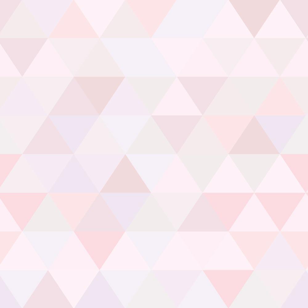 Papel de parede triangulo rosa menina infantil adesivo 3m - Papel infantil para paredes ...
