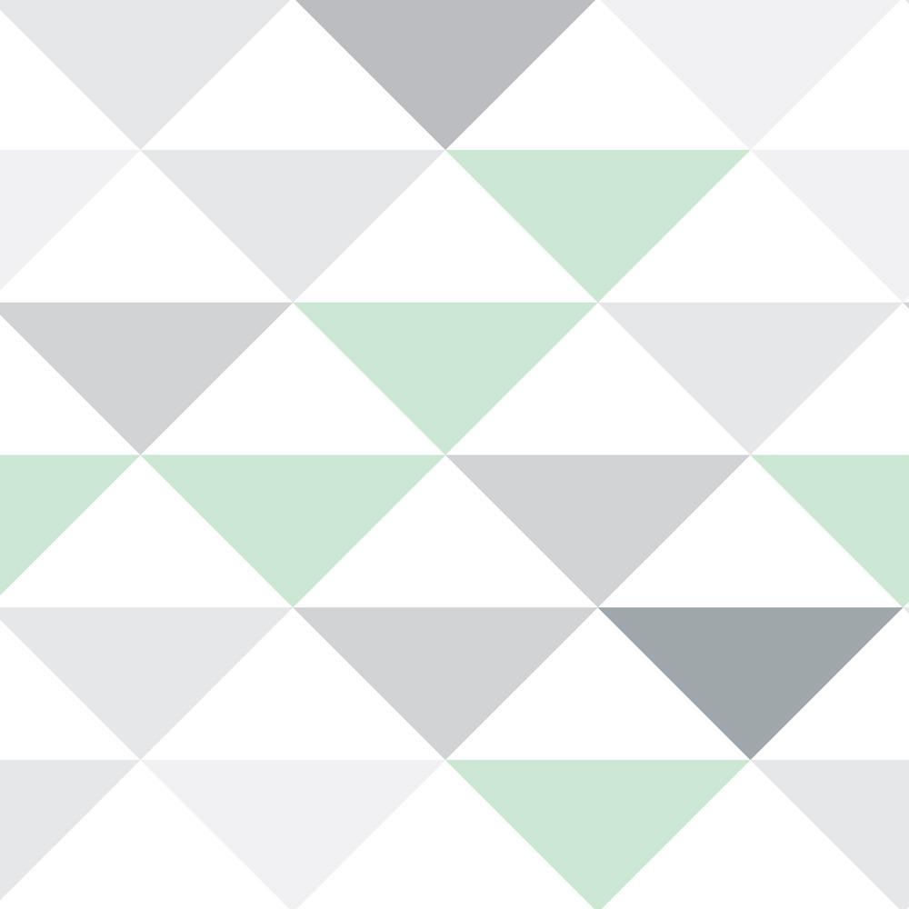 5b7f7a54d papel de parede triangulo verde cinza branco autocolante 12m. Carregando  zoom.